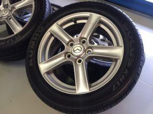 Mazda MX-5 velgenset Steek 5 x 114,3 met 205/50-16 Vredestein Zomerbanden