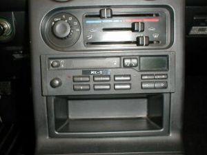 Opberg console onder radio
