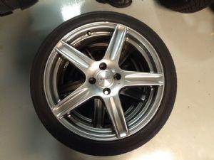 Mazda MX-5 velgenset Steek 4 x 100 met 205/40-17 Michelin Zomerbanden